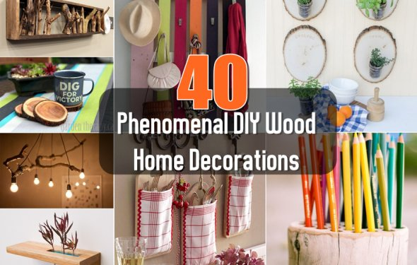40 Phenomenal DIY Wood Home