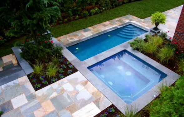 Elegant Small Inground Pool