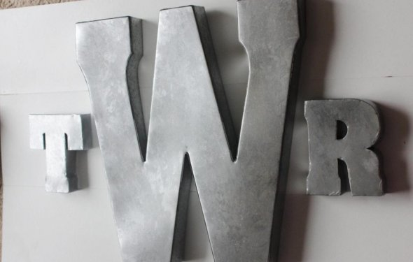 Metal Wall Letters Home Decor