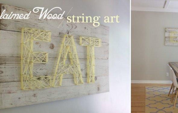 Reclaimed Wood String Art