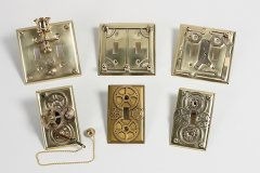 brass light switch dishes - Steampunk Decor