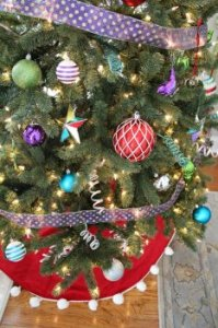 Christmas Tree designing a few ideas: Tree with Non-Traditional Christmas time Colors