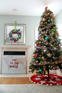 xmas Tree designing Ideas: Tree, Wreath and getaway Message