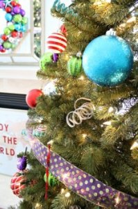 xmas Tree Decorating a few ideas: Whimsical Shapes and Textures