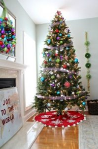 xmas Tree designing some ideas: Whimsy and Unexpected Color by Michelle Rothmeier of Ten Summer