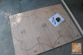 Creatig a DIY mirror: very first draw form regarding the board