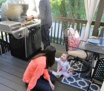 Deck Decorating Ideas: A for outside cooking and outside dining