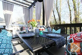Deck Decorating Tips: The Hampton Bay Fall River eating set