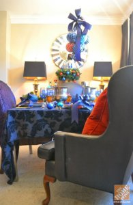 Dining Room designing some ideas for Christmas time: Lush and deluxe in Blue, by Mr. Goodwill Hunting
