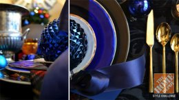 Dining Room Decorating Ideas for Christmas time: Lush and deluxe in Blue
