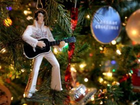 PHOTO: This Elvis decoration is part of the couple?s Travel tree.