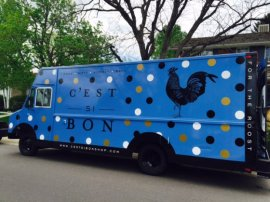 Ryan Cozens' C'est Si Bon home-decor truck has actually home and present products prompted by the French country side.