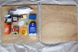 Supplies for DIY wall art project