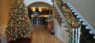 Beautifully decorated Christmas homes