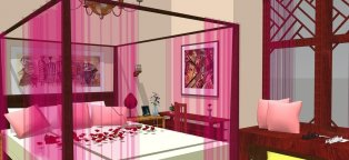 Romantic Interior design bedroom